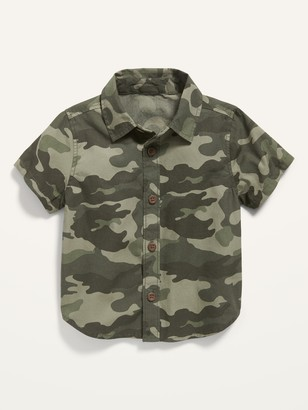 Old Navy Short-Sleeve Camo-Print Poplin Shirt for Baby