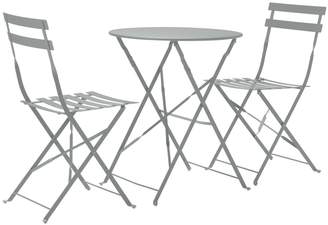 Argos Home Eve Folding 2 Seater Metal Bistro Set