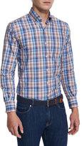 Peter Millar Farmington Plaid Long-Sleeve Sport Shirt