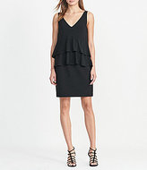 Lauren Ralph Lauren Georgette Tiered V-Neck Dress