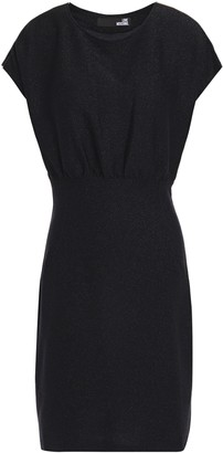 Love Moschino Zip-detailed Metallic Stretch-jersey Mini Dress