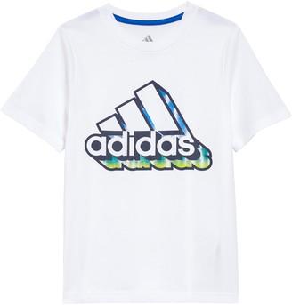 adidas 3D Graffiti Logo Graphic Tee