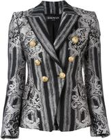 Balmain double breasted blazer - women - Cotton/Polyester/Viscose - 36
