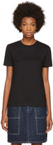 Carven Black Grosgrain Logo T-shirt
