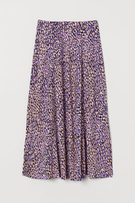 H&M Patterned Jersey Skirt
