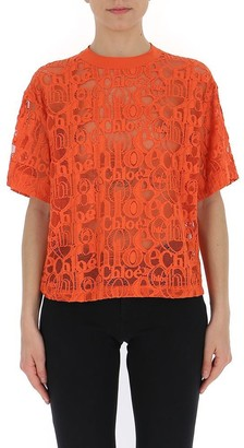 Chloé All Over Logo T-Shirt