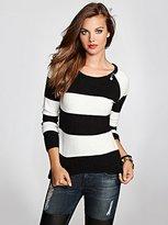 Mackanzie Long-Sleeve Striped Sweater