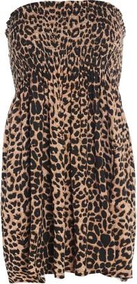 ZEE FASHION Womens Ladies Plain Printed Sheering Boobtube Bandeau Summer Strapless Short Dress TOP Plus Size UK 8-22 Jade Green