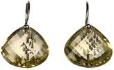 Nunu Lemon Quartz Gem Stone on Silver Wire (Silver/Lemon) - Jewelry
