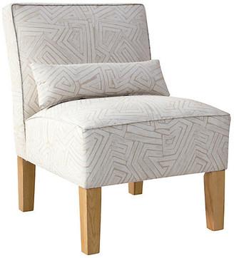 One Kings Lane Bergman Accent Chair - Beige/White