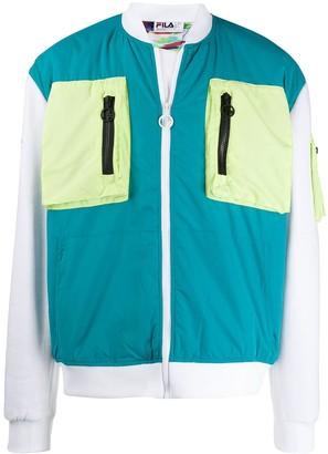 Fila Contrasting Pocket Bomber Jacket