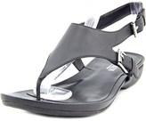 Lauren Ralph Lauren Kasia Women Open Toe Leather Thong Sandal.