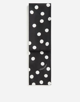 Dolce & Gabbana Silk Scarf With Large Polka-Dot Print