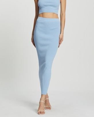 Dazie - Women's Blue Maxi skirts - Girl Meets Boy Maxi Tube Skirt - Size L at The Iconic