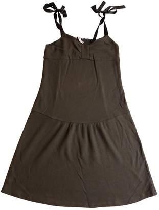 Comptoir des Cotonniers Khaki Wool Dress for Women
