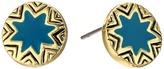 House Of Harlow Engraved Sunburst Stud Earrings