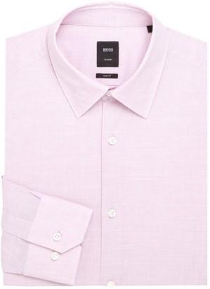 HUGO BOSS Regular-Fit Textured Dress Shirt