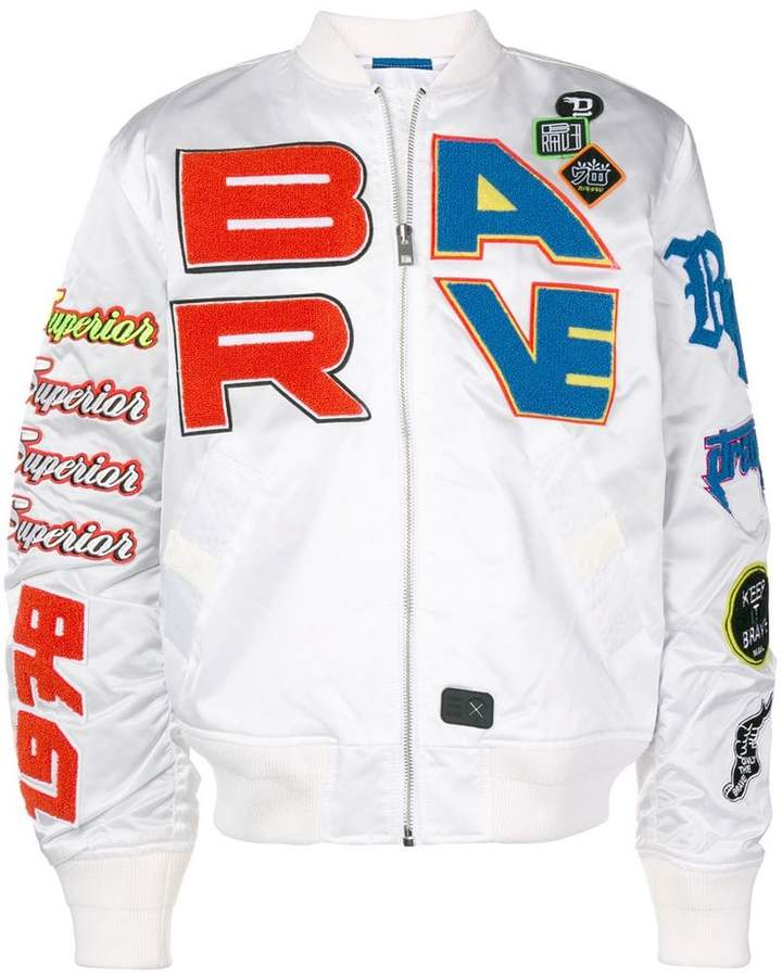 Diesel patch bomber jacket