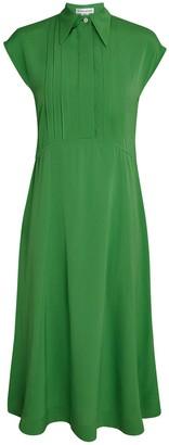Victoria Beckham Pintuck Midi Shirt Dress