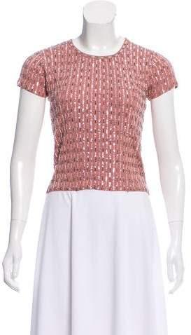 Collette Dinnigan Sequined Silk Sweater