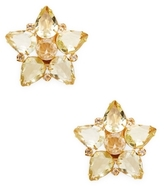 Bounkit Quartz Star Stud Earrings