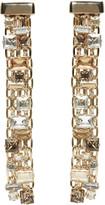 Lanvin Gold & Crystal Skinny Clip-On Earrings