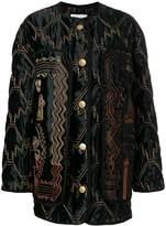 Peter Pilotto zig-zag stitched bomber jacket