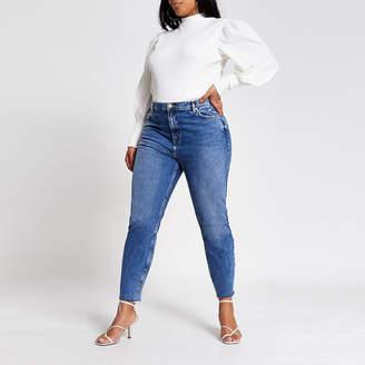 River Island Plus blue Brooke high rise slim jeans