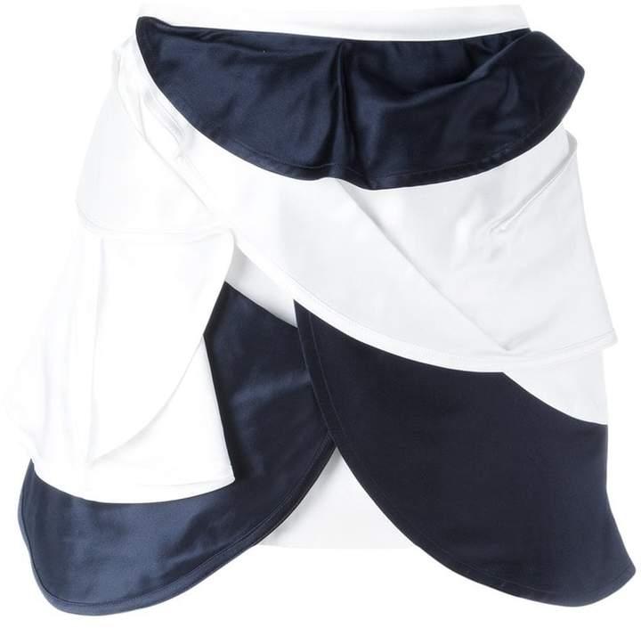 J.W.Anderson orbital layered mini skirt