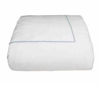 Bovi Fine Linens Bitsy Dots Twin Duvet Cover, White/Aqua