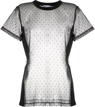 RED Valentino polka-dot sheer T-shirt