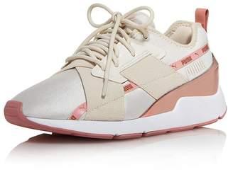 Puma Women's Muse X-2 Metallic Lace-Up Sneakers