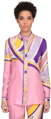 Emilio Pucci Printed Twill Pajama Shirt