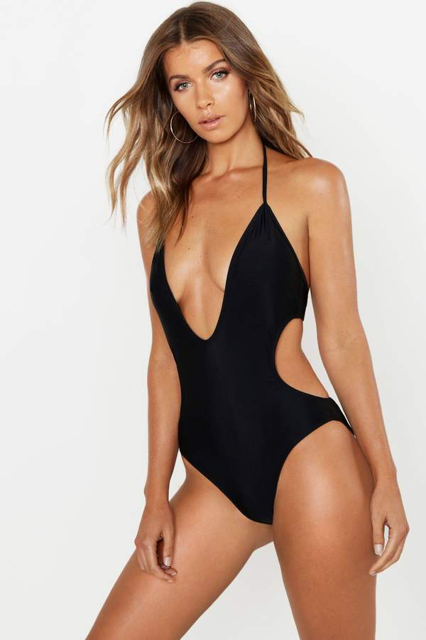 3216fa2faae Deep Plunging Swimsuit - ShopStyle