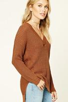 Forever 21 FOREVER 21+ Contemporary V-Neck Sweater