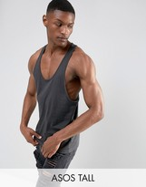 Asos TALL Tank With Extreme Racer Back In Black