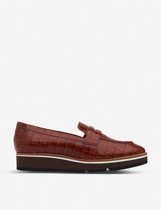 LK Bennett Shana croc-embossed leather flatform loafers