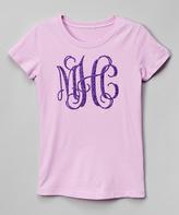 Swag Lavender Monogram Tee - Girls
