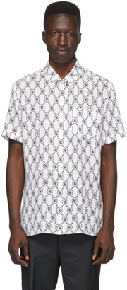 Neil Barrett White and Black Monogram Shirt