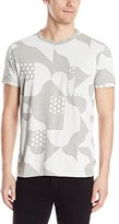 French Connection Men's Tile Camo Jersey Short Sleeve T-Shirt