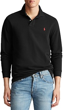 Polo Ralph Lauren Classic Fit Mesh Long-Sleeve Polo Shirt