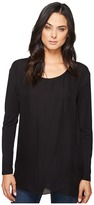Heather Long Sleeve Silk Layered Slouchy Top Women's Clothing