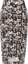 Zero Maria Cornejo Gemma ruched printed stretch-crepe skirt