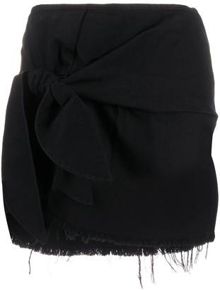 Marques Almeida Knotted Detail Mini Skirt