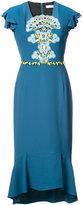 Peter Pilotto ruffle midi dress - women - Polyester/Acetate - 8