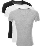 Tommy Hilfiger 3 Pack V Neck T Shirts Grey