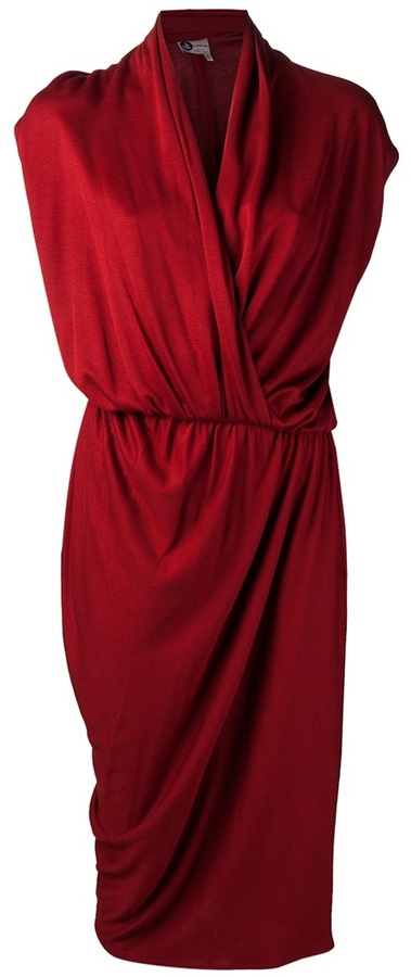 Lanvin draped tulip dress