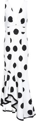 Sachin + Babi Ruffled Polka-dot Faille Gown