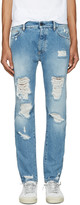 Palm Angels Blue Ripped Jeans
