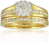 JCPenney FINE JEWELRY LIMITED QUANTITIES 1 CT. T.W. Diamond 14K Yellow Gold Bridal Ring Set